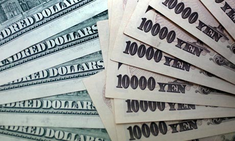 Yen surges due to stock markets rise and agressive Abe rhetorics, USD falls.